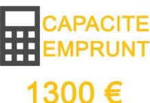 capacité emprunt 1300 euros mois