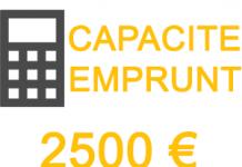capacité emprunt 2500 euros mois