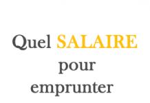 quel salaire pour emprunter 40 000 euros